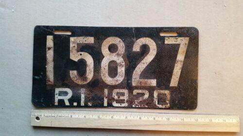 License Plate, Rhode Island, 1920, 15827