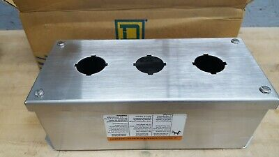 Square D Class 9001 Kyss-3 3 Button Stainless Steel Operator Enclosure New Wbox