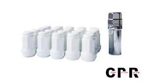 CPR CLOSE ENDED SPLINE STEEL LUG NUTS 7 SIDES 20PCS 12X1.5 WITH KEY WHITE