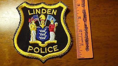 VINTAGE LINDEN  POLICE   NEW JERSEY  OBSOLETE SHOULDER  PATCH BX E #1