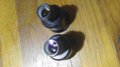 2pcs Stereo Microscope Eyepieces 135 X  Biolar Pzo Lomo 1980s D17mm