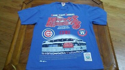 Vintage 1995 Chicago Cubs Cooperstown Collection, XL  Blue, T-Shirt Chicago Cubs Cooperstown Collection