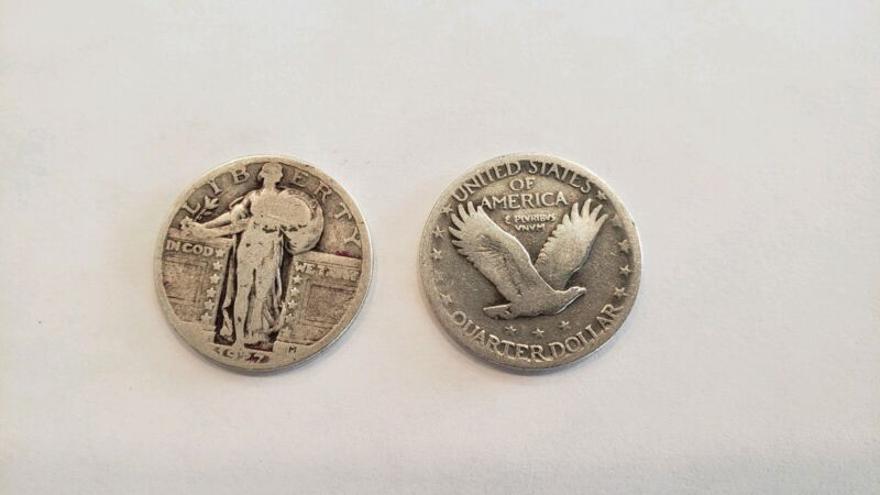 1 Standing Liberty Quarter with date 90% Silver - Nice Circulated -Fast Shipping