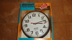 Skilcraft Slimline Chicago Lighthouse Electric Wall Clock Bronze Colored Plastic