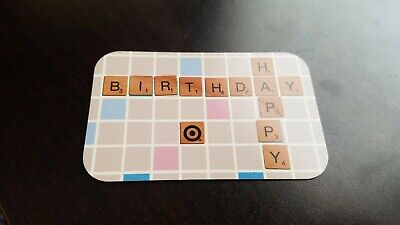 gift card scrabble happy birthday no value