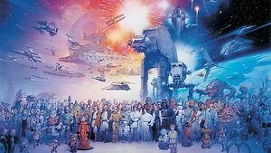 A391 STAR WARS - Force Awakens Fantasy Film Wall Art Large Canvas Print 20