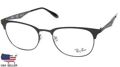 NEW Ray Ban RB6346 2904 MATTE BLACK On BLACK EYEGLASSES FRAME 52-19-145 B40mm