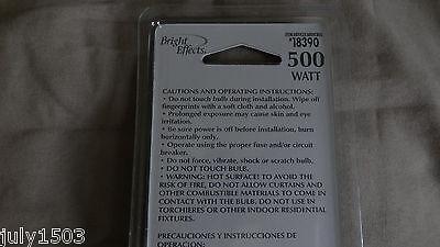 (10) New 500 Watt Bright Effects Halogen Bulbs #18390 Rough Service T3 R7s 130v 4