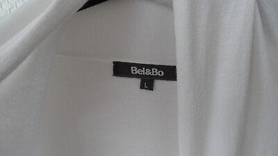 """Beau long gilet blanc sans boutonnage marque """"BE & BO"""" taille 44/46 - ETAT NEUF"""