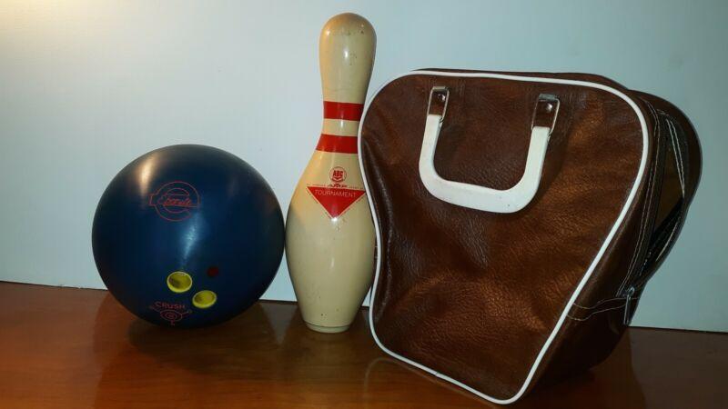 Vintage Ebonite Crush Bowling Ball