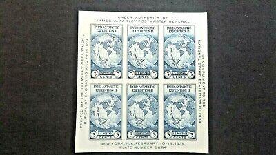 US Scott 735 Byrd Farley - MNH - Mint Souvenir Sheet PO Fresh! + Bonus sheet!