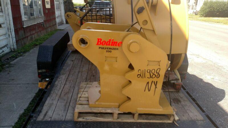Bodine CONCRETE PULVERIZER CRUSHER PC 200 series Excavator 80 mm Komatsu Cat 320
