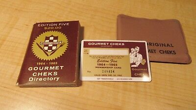 VINTAGE CHICAGO DINING & ENTERTAINMENT CLUB CHARGE CARD AND BOOKLET 1964 HISTORY