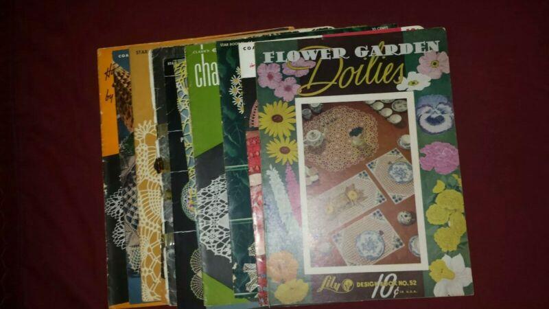 Lot Of 11 Vintage Doilies Pattern Books, 1943-56