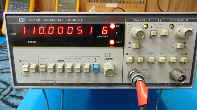 HP Hewlett Packard Agilent 5315B Frequency Counter 0.1Hz-110MHz +Hi Stab Opt 4