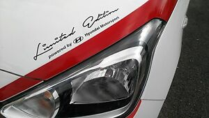 Limited Edition by Hyundai Motorsport Aufkleber Sticker Folie Logo Sports Mind