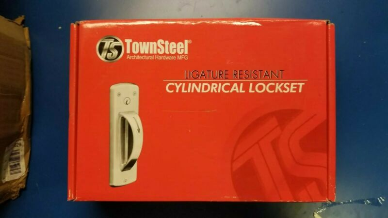 TownSteel Ligature Resistant RH F84 Cylindrical Lever Lockset