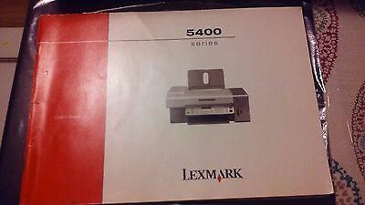 Руководство Lexmark 5400 Series User's Guide