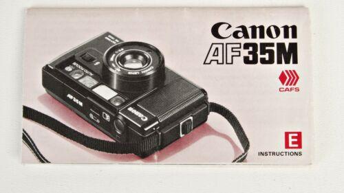 +Vintage Canon AF35M Film Camera Instruction Manual