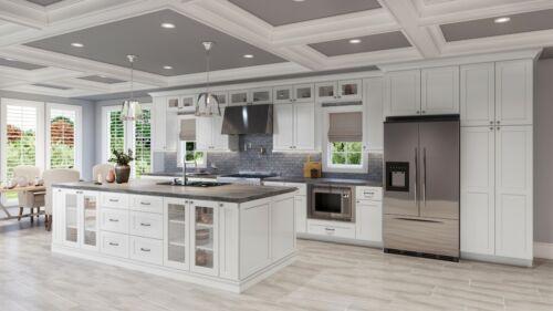 Fully Assembled 10X10 Modern Shaker White Kitchen Cabinets Lifetime Warranty