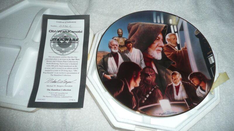 Star Wars Heroes and Villains Obi Wan Kenobi Hamilton plate w/ COA