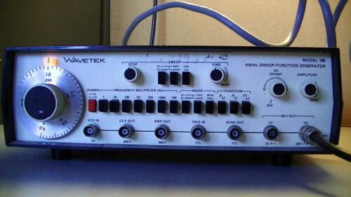 WAVETEK model 188 4MHZ Sweep/function generator tested functional