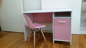 Girls kids pink white desk with replica eames chair Pasadena Mitcham Area Preview
