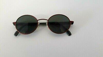 Adidas Mod Masters -Sonnenbrille runde Gläser dunkel rotes Gestell