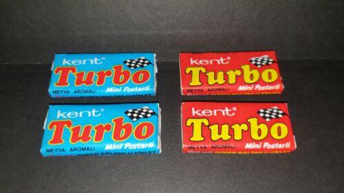 Two Rare Turbo unopened gums 1990-1992 Turkey