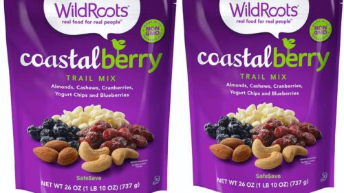 2 Packs WildRoots Coastal Berry Trail Mix 26 oz Each Pack NOW w More Blueberries
