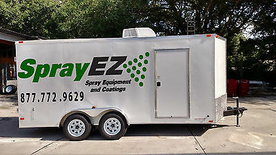 Spray Foam Equipment Insulated Trailer Package Diesel Generator Graco Fusion Gun