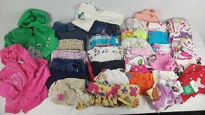 Girls 12-18 & 18 Month Clothing Lot x34 Pcs Shirts Pants Shorts Jackets ++ (#11)