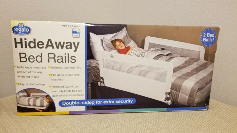 Regalo HideAway Double Sided Bed Rail Guard, with Reinforced Anchor Safety Syste
