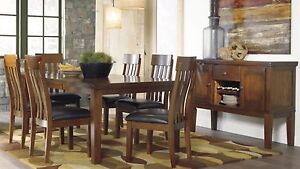 Brand New thick harvest butterfly leaf table and 6 solid chairs