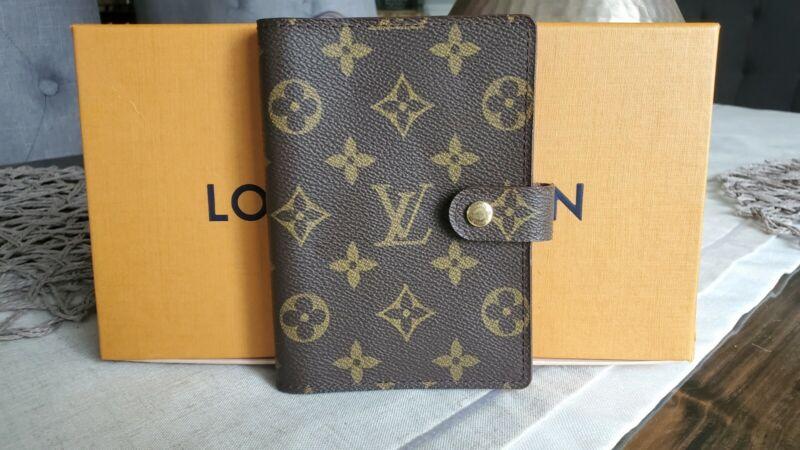 100% AUTHENTIC Louis Vuitton Agenda PM Monogram with box CA0997