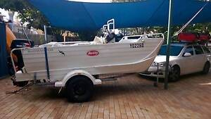 WEBSTER TWINFISHER 4.0M Aluminium with motor and trailer West End Brisbane South West Preview