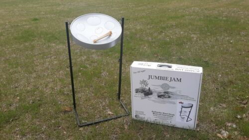 Jumbie Jam Steel Drum Kit w/ Metal Z-Floor Stand - G Major Pan