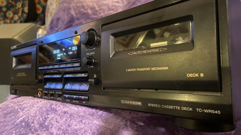 Sony TC-WR545 Dual Cassette Tape Deck Stereo Component, Digital, Belts Broken