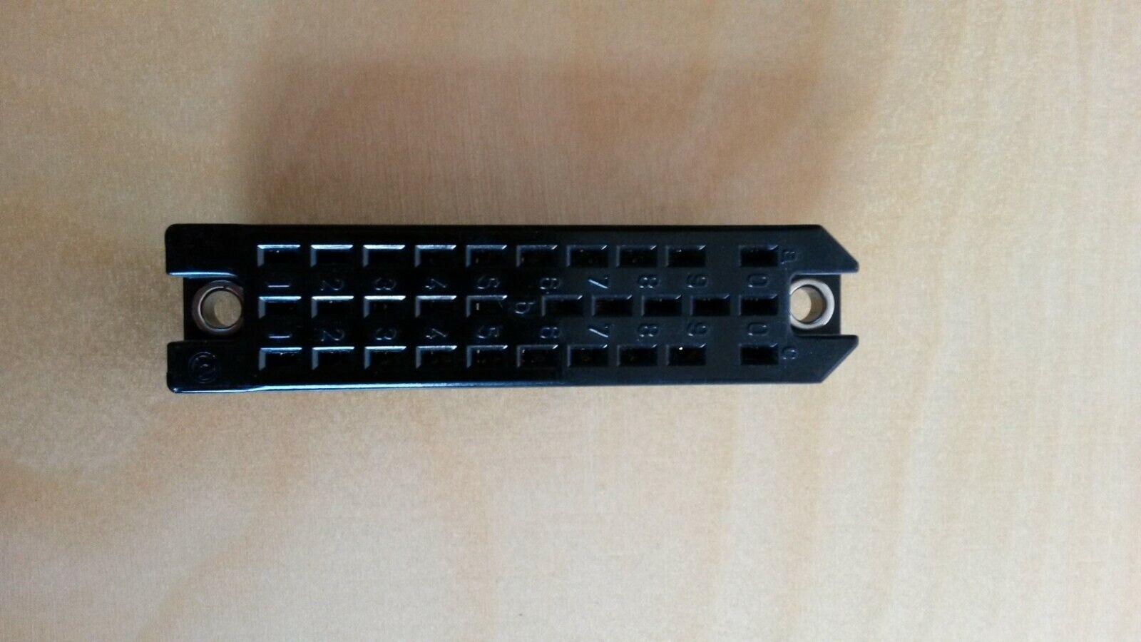 30 Pol Rechtecksteckverbinder Federleiste Printversion nach DIN 41622 ,