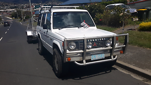 1988 mitsubishi pajero and 6x7 tandem trailer Goodwood Glenorchy Area Preview