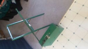 Coleman 2 burner camp stove with stand. Good used condition.