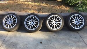 """Michelin Alpine tires  245/40 R18 and factory 18"""" rims with TPMS"""