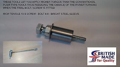 M5 - Engineers Heavy Duty High Tensile (10.9) Rivnut Insert Setting Tool Nutsert
