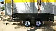 12 x 6 3.5T Gross Flat Top Hydraulic Tipper Tandem Trailer Epsom Bendigo City Preview