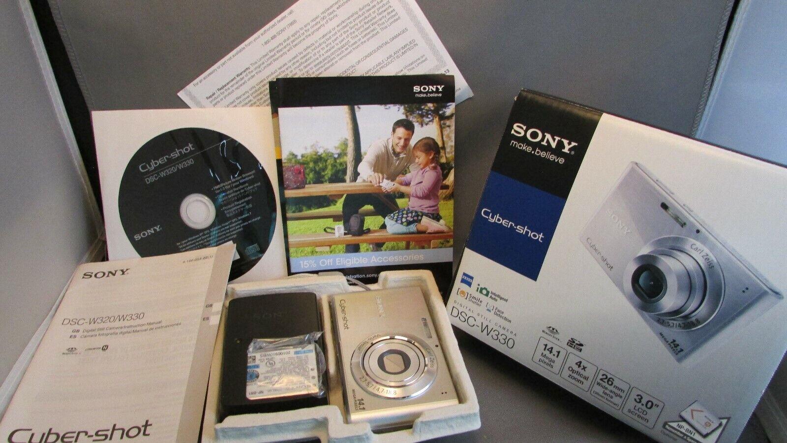 Sony Cyber-shot DSC-W330 14.1MP Digital Camera -silver- New Open Box  - $99.00