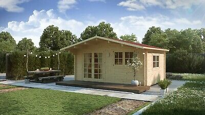 EXCLUSIVE* PROMOTION ! Log cabin MONACO 5mx 4m / 44mm ! FREE DELIVERY !