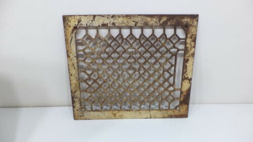Antique Cast Iron Grate Floor Vent Register Air Return  Art Deco