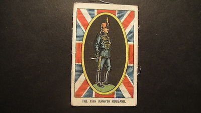 SCARCE SILK TRADE CARD MY WEEKLY  OUR SOLDIER BOYS THE 15th KINGS HUSSARS