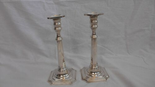 Matching Pair Redlich Sterling Silver Tall Standing Candle Holders #2144