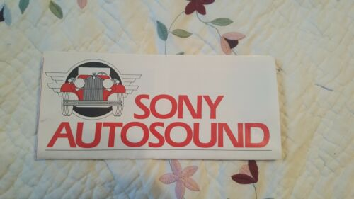 Vintage 8/83 Sony Autosound Flyer/Pamphlet/Sales Sheet Receivers/Speakers
